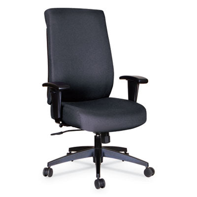 Alera® Wrigley Series High Performance High-Back Synchro-Tilt Task Chair, Black Fabric Chairs/Stools-Office Chairs - Office Ready
