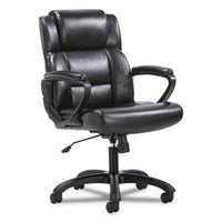 Sadie™ Mid-Back Executive Chair, Supports up to 250 lbs., Black Seat/Black Back, Black Base Chairs/Stools-Office Chairs - Office Ready