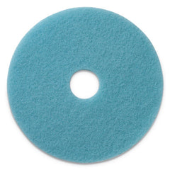 "Americo® Luster Lite Burnishing Pads, 20"" Diameter, Sky Blue, 5/CT"