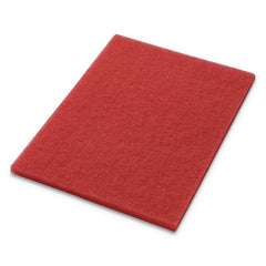 Americo® Buffing Pads, 14w x 20h, Red, 5/CT