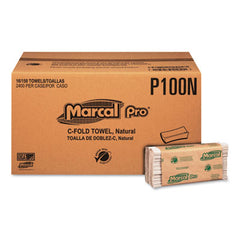 "Marcal PRO™ 100% Recycled Folded Paper Towels, 1-Ply, 10 1/8"" x 12 7/8 "", 150/Pack, 16 Packs/CT"