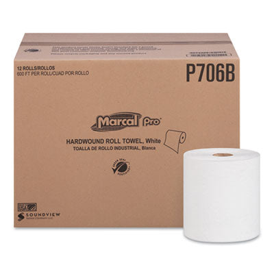 Marcal PRO™ 100% Recycled Hardwound Roll Paper Towels, 1-Ply, 7 7/8
