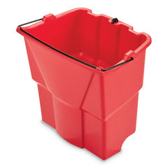 Rubbermaid® Commercial WaveBrake® 2.0 Dirty Water Bucket, 4.2 gal, Plastic, Red