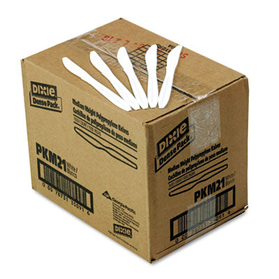 Dixie® Plastic Cutlery Mediumweight Knives, White, 1000/Carton Utensils-Knife - Office Ready