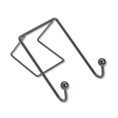Fellowes® Wire Partition Additions™ Coat Hook 4 x 6, Black Partition & Panel Accessories-Double Garment Hook - Office Ready