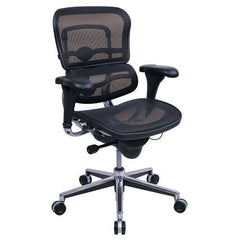 Eurotech Seating Ergohuman Collection High Back Ergonomic Chair in Black Mesh