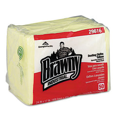 Georgia Pacific® Professional Brawny Industrial® Dusting Cloths 17 x 24, Yellow, 50/Pack, 4 Packs/Carton