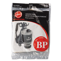 Hoover® Commercial Back Pack Disposable Vacuum Cleaner Liner, 7PK/EA