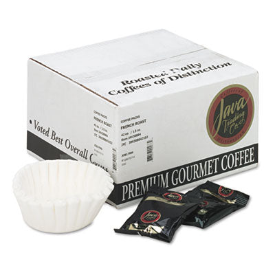 Beverages-Coffee, Fraction Pack - Distant Lands Coffee Coffee 1.5oz Packs, French Roast, 42/Carton - Office Ready - 1