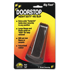 Master Caster® Big Foot® Doorstop No Slip Rubber Wedge, 2 1/4w x 4 3/4d x 1 1/4h, Brown