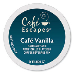 Café Escapes® Café Vanilla K-Cups®, 24/Box