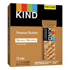 KIND Nuts and Spices Bar, Peanut Butter, 1.4 oz, 12/Pack