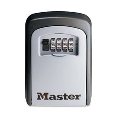 Master Lock® Wall Mounted SafeSpace® Key Storage Lock Box, 3 1/4w x 1 1/2d x 4 5/8h, Black/Silver