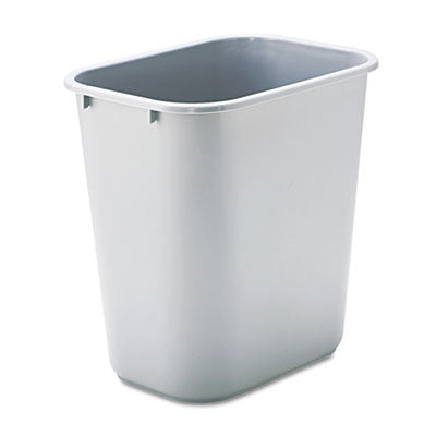 Rubbermaid® Commercial Deskside Plastic Wastebasket Rectangular, 7 gal, Gray Waste Receptacles-Basket, Rectangle - Office Ready