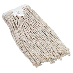 Boardwalk® Cut-End Wet Mop Heads, Cotton, No. 16 Size, White