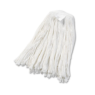 Boardwalk® Cut-End Wet Mop Heads Rayon, No. 20, White Mop Heads-Wet - Office Ready