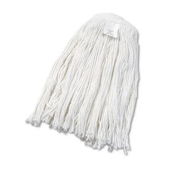 Boardwalk® Cut-End Wet Mop Heads, Rayon, No. 24, White, 12/Carton