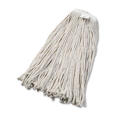 Boardwalk® Cut-End Wet Mop Heads Cotton, No. 32, White, 12/Carton