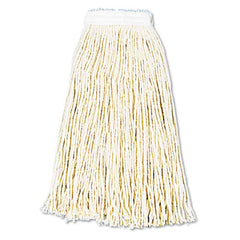 Boardwalk® Cut-End Wet Mop Heads, Cotton, 16oz, White, 12/Carton