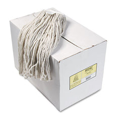 Boardwalk® Cut-End Wet Mop Heads, Cotton, 24oz, White, 12/Carton