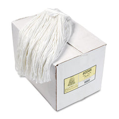 Boardwalk® Cut-End Wet Mop Heads Rayon, 24oz, White, 12/Carton