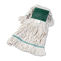 Boardwalk® Super Loop Wet Mop Head, Cotton/Synthetic, Medium Size, White, 12/Carton