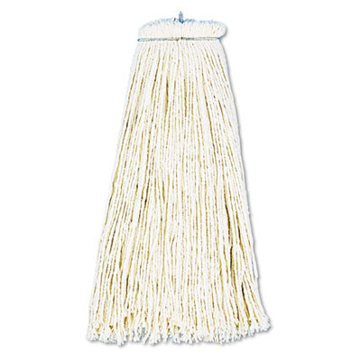 Mop Heads-Wet - Boardwalk® Cut-End Lie-Flat Economical Mop Head Cotton, 16oz, White, 12/Carton - Office Ready