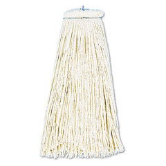 Boardwalk® Cut-End Lie-Flat Economical Mop Head Cotton, 16oz, White, 12/Carton