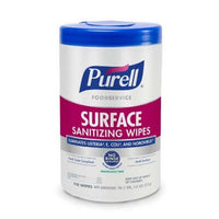 Purell Foodservice Surface Sanitizing Wipes, No Rinse, Fragrance-Free, 110/Can, 6/CT  - Office Ready