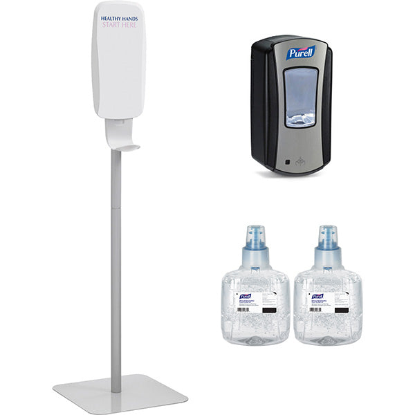 Purell Hand Sanitizer Stand & Dispenser Kit  - Office Ready