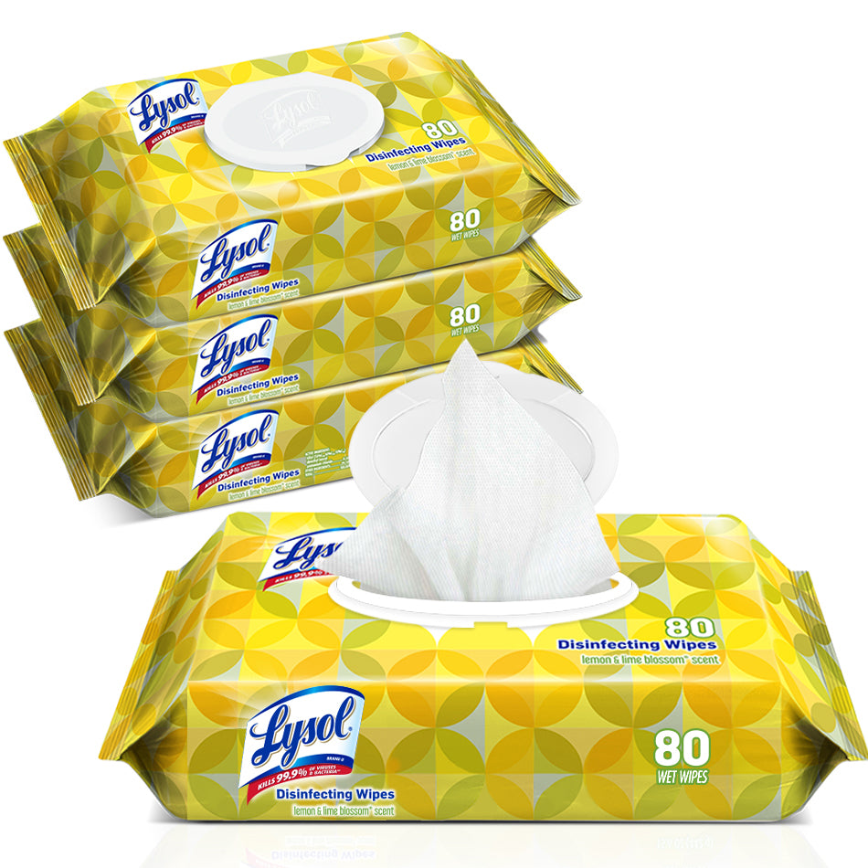 Lysol Disinfecting Wipes Flat Pack 80 sheets/pack, 6pk/case  - Office Ready