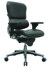 Eurotech Ergohuman Mid Back Leather Chair - Black