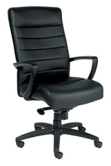 Eurotech Manchester High Back Leather Chair - Black