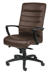 Eurotech Manchester High Back Leather Chair - Brown