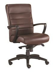 Eurotech Manchester Mid Back Leather Chair - Brown