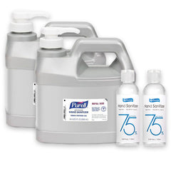 Purell Advanced Hand Sanitizer Gel, 64 oz Refill Size & Mini Sanitizers BUNDLE