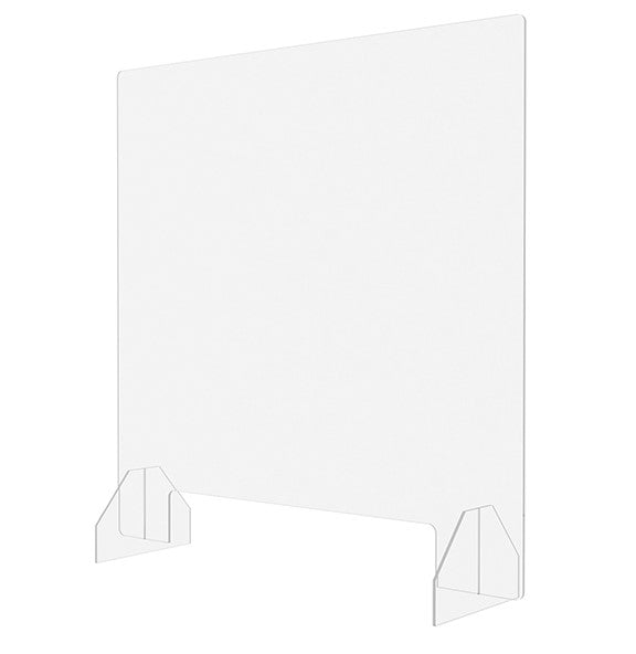 Sneeze Guard 36x36, Freestanding or Fasten to Surface  - Office Ready