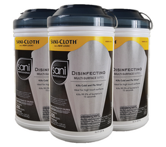 Sani-Cloth Disinfecting Multi-Surface Wipes, Sani-Professional, 6/CT