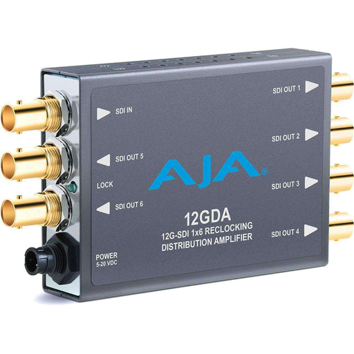 AJA Distribution Amplifiers (DA's) AJA 12GDA 12G-SDI 1x6 Reclocking Distribution Amplifier