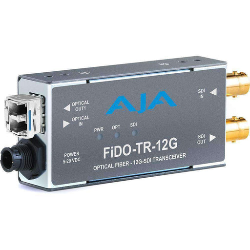 AJA Video Extenders & Repeaters AJA 1-Channel 12G-SDI/LC Single-Mode LC Fiber Transceiver