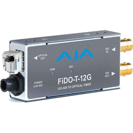 AJA Video Extenders & Repeaters AJA 1-Channel 12G-SDI to Single-Mode LC Fiber Transmitter