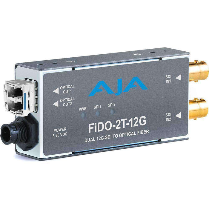 AJA Video Extenders & Repeaters AJA 2-Channel 12G-SDI to Single-Mode LC Fiber Transmitter