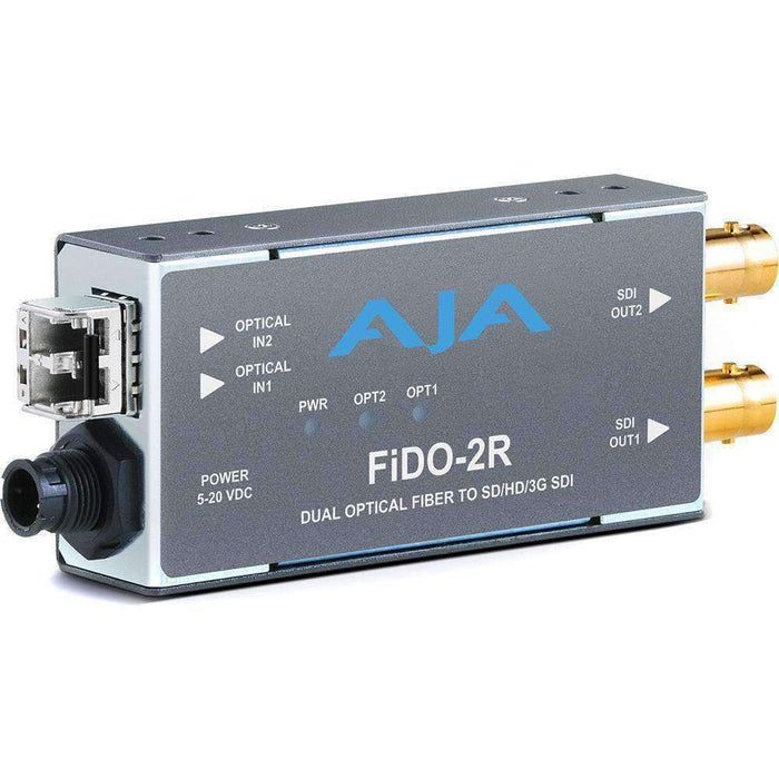 AJA Video Extenders & Repeaters AJA 2-Channel Multi-Mode LC Fiber to 3G-SDI Receiver