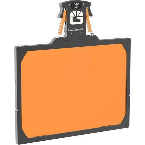 "Bright Tangerine Matte Box Filter Holders Bright Tangerine 4 x 5.65"" Gripper Filter Tray for VIV Matte Box"
