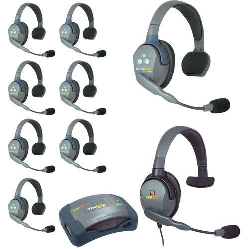 Eartec IFB & Communications Eartec HUB9SMXS UltraLITE 9-Person HUB Intercom System with Max 4G Single Headset (USA)