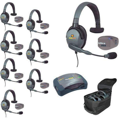 Eartec IFB & Communications Eartec UPMX4GS8 UltraPAK 8-Person HUB Intercom System with Max4G Single Headset