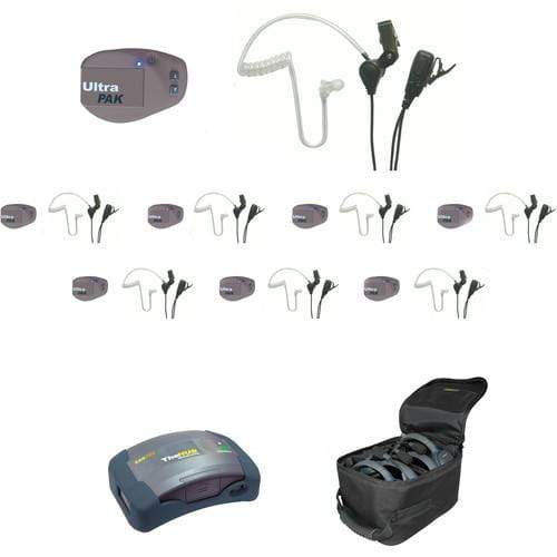 Eartec IFB & Communications Eartec UPSST8 UltraPAK 8-Person HUB Intercom System with SST Headset