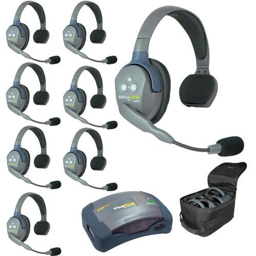 Eartec recpnFGFZBBuN9Z0h Eartec HUB8S UltraLITE 8-Person HUB Intercom System (USA)
