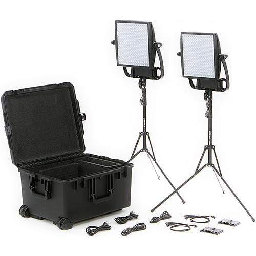 Litepanels Continuous Lighting Litepanels Astra 6X Traveler Bi-Color Duo 2-Light Kit with Gold Mount Battery Brackets
