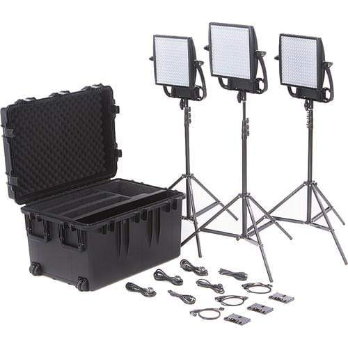 Litepanels Continuous Lighting Litepanels Astra 6X Traveler Bi-Color Trio 3-Light Kit with Gold Mount Battery Brackets